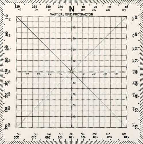 WEEMS & PLATH Marine Navigation Square Protractor (5-Inch) -