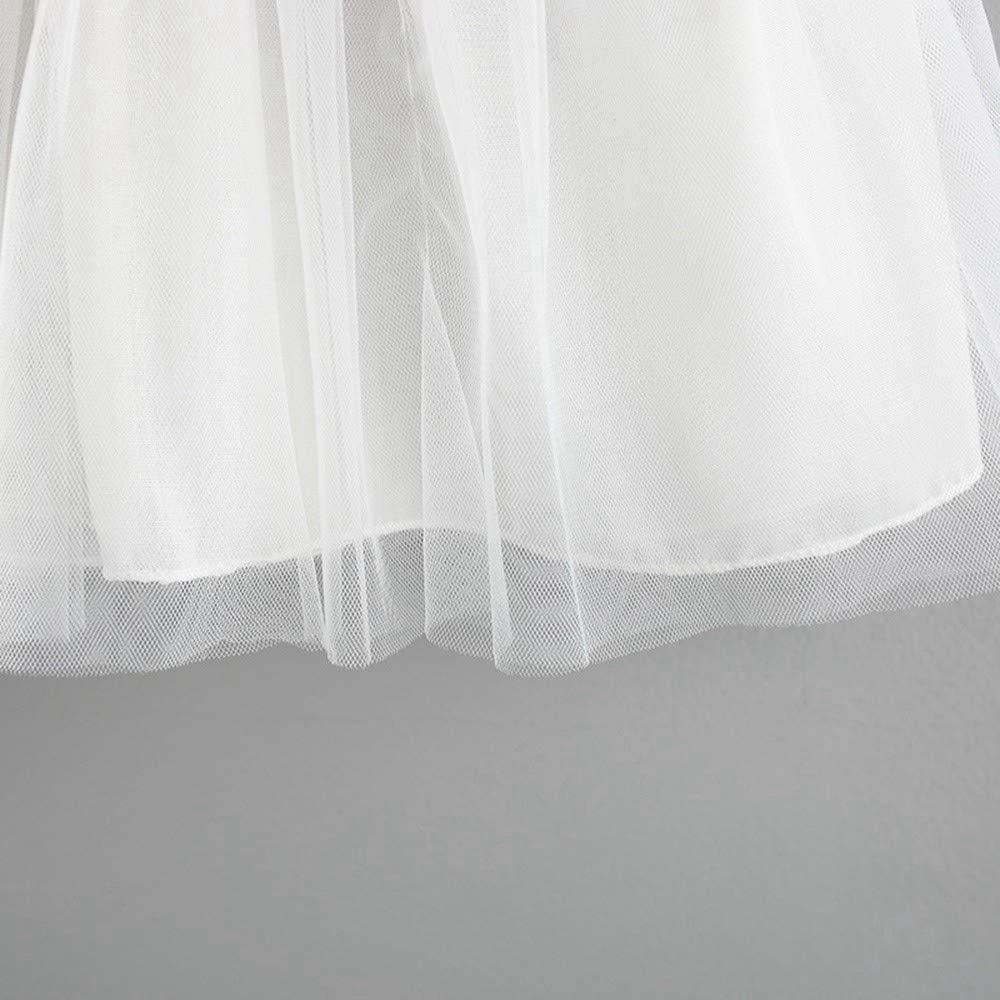 LEvifun Abito Bambina Principessa Vestiti da Bambino Vestito da Cerimonia per la Damigella Bowknot Floreale Abiti per la Matrimonio Carnevale Natale Regalo