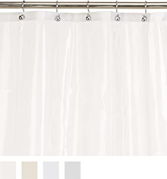 Carnation Home Fashions 10 Gauge PEVA 72 By 96 Inch Shower Curtain Liner,
