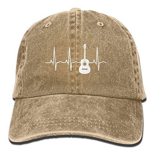 ONE-HEART HR Guitar Heartbeat Baseball Caps Denim Hats For Men Women