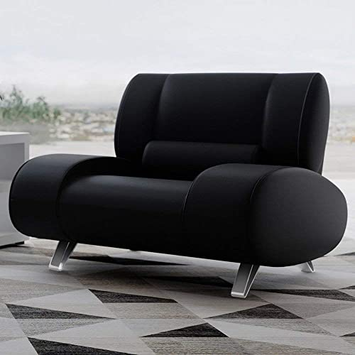 Zuri Furniture Modern Aspen Black Microfiber Leather Chair