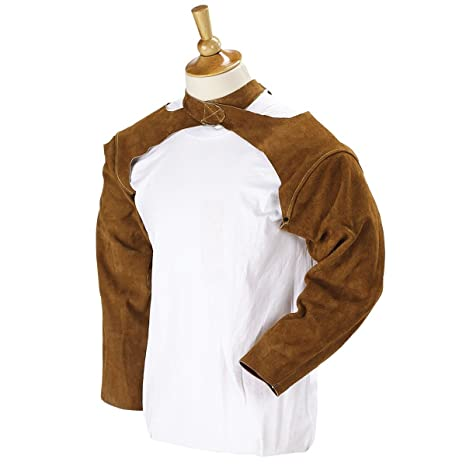 Workplace Safety Supplies Cow Leather Welding Clothing Leather Welder Aprons Coverall Safety Clothing Split Cow Leather Fr Cotton Welding Jackets Beautiful In Colour