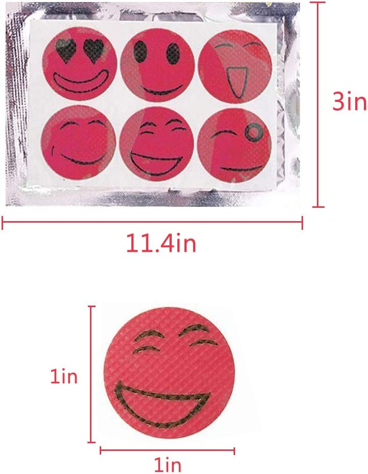 Random Colors BESTZY Repellent Patches Family Camping Travel and Outdoor Activities 40 pcs Repellent Sticker Smiley for Children