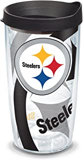 Tervis 1058498 NFL Pittsburgh Steelers Primary Logo Tumbler with Emblem and Yellow Lid 16oz Quartz