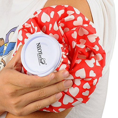 Neotech Care Ice Bag for Injuries, Swelling, Headache, Pain Relief, First Aid - Cold Pack Screw Top Lid - Reusable, Refillable, Flexible & Waterproof Pouch/Bladder Style (5 inch, Sports Design)