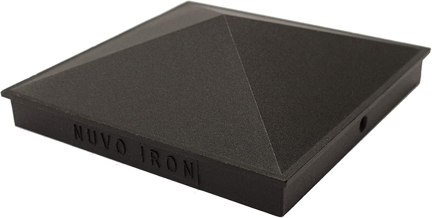 Nuvo Iron Decorative Pyramid Aluminium Post Cap for 5.5