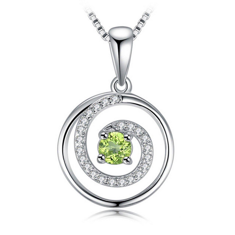 MMC Swirl 0.4 ct Peridot Silver Pendants Necklaces