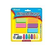 BAZIC Neon Eraser Sets
