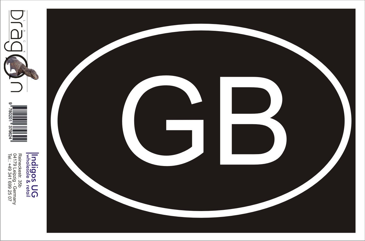 Die cut Gro/ßbritannien GB Bumper 160x110 mm white JDM Sticker