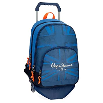 Pepe Jeans Fabio 60924N1 Mochila Escolar, 44 cm, 30.98 litros, Azul: Amazon.es: Equipaje
