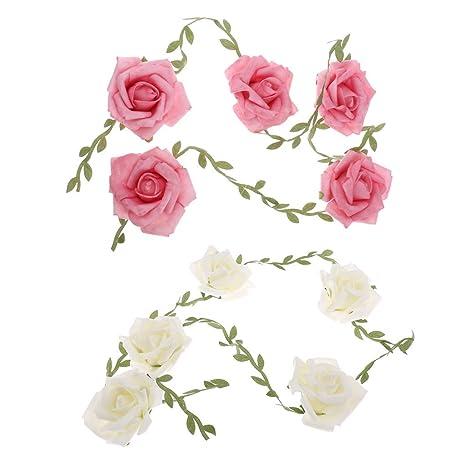 Amazon Kodoria 2pcs Artificial Rose Garland Wedding Flower
