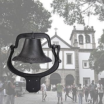 Gran campana de hierro fundido Vintage Granja Escuela Iglesia cena decoración hogar templo: Amazon.es: Jardín
