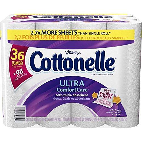 Cottonelle Ultra Bath Tissue, 36 Jumbo Rolls 225 Sheets