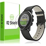 Pebble Time Round 14mm Screen Protector, IQ Shield LiQuidSkin (6-Pack) Full Coverage Screen Protector for Pebble Time Round 14mm HD Clear Anti-Bubble Film - with