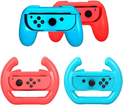 Joy-con Grip & Volante para Nintendo Switch, Joy con Grip Gamepad ...