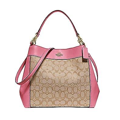 COACH SMALL LEXY SHOULDER BAG IN SIGNATURE JACQUARD KHAKI PEONY  Amazon.co.uk   Shoes   Bags 4e91886c3c94f
