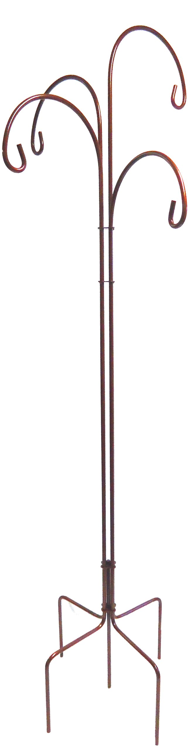 Quicor 68015 Scrolled Quad 4-Offset Shepherd Plant Hook, Brown Pearl