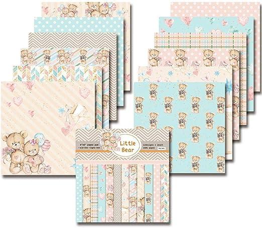 Mona43Henry 24 Hojas Scrapbook Paper Pad Floral Scrapbooking Exquisita Cartulina Paper Pad Vintage Stamped Paper DIY Papel Decorativo Manualidades Para Scrapbooking Y Craft: Amazon.es: Hogar
