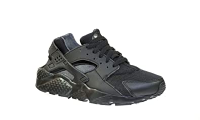 Nike Air Huarache Run GS (Black/Anthracite) Triple Black (5)