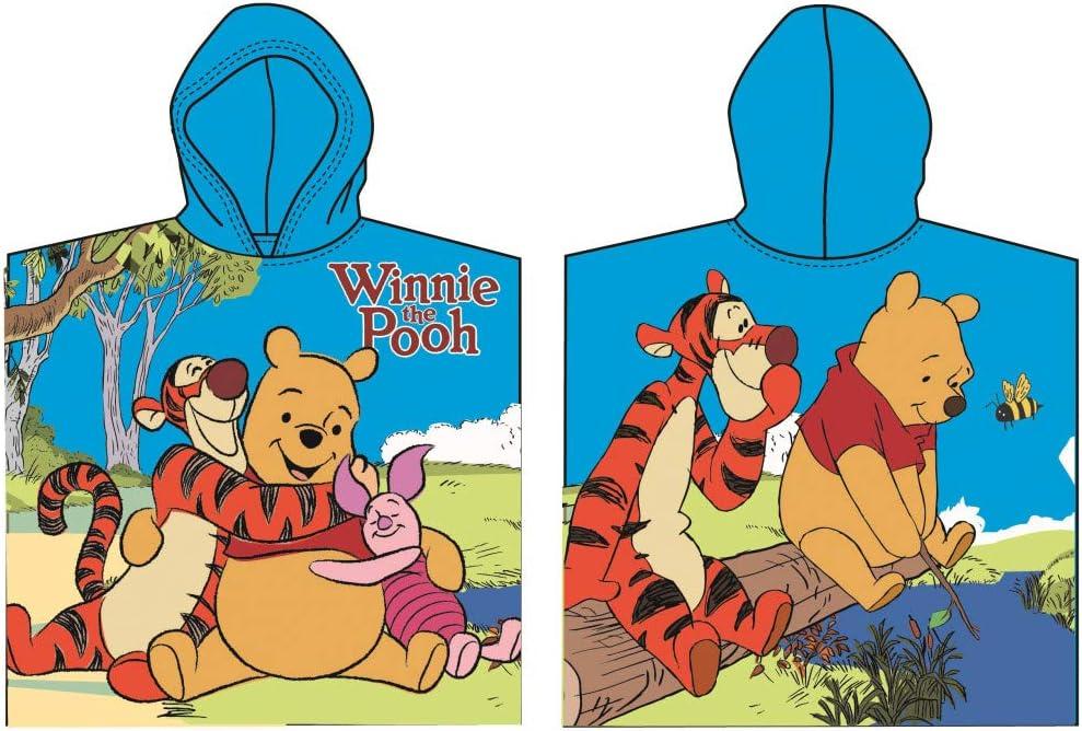 Hellblau Disney Winnie Pooh Poncho Kapuzenbadetuch 60x120 cm