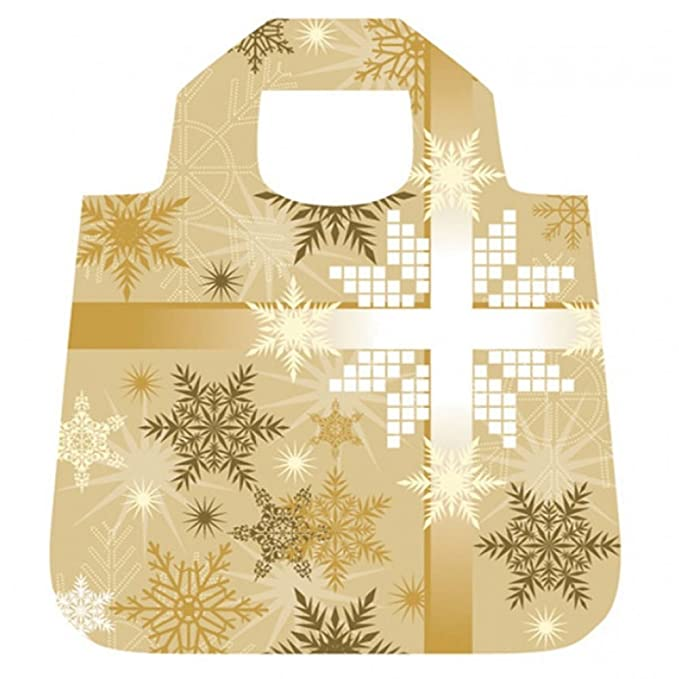 ENVIROSAX Christmas Winter Bag Foldaway Roll Up Reusable Shopping Tote Gift