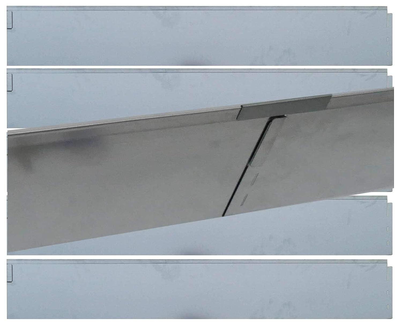 Rasenkante Metall verzinkt 590 cm Höhe 19,5cm 5x118cm Mähkante Beeteinfassung