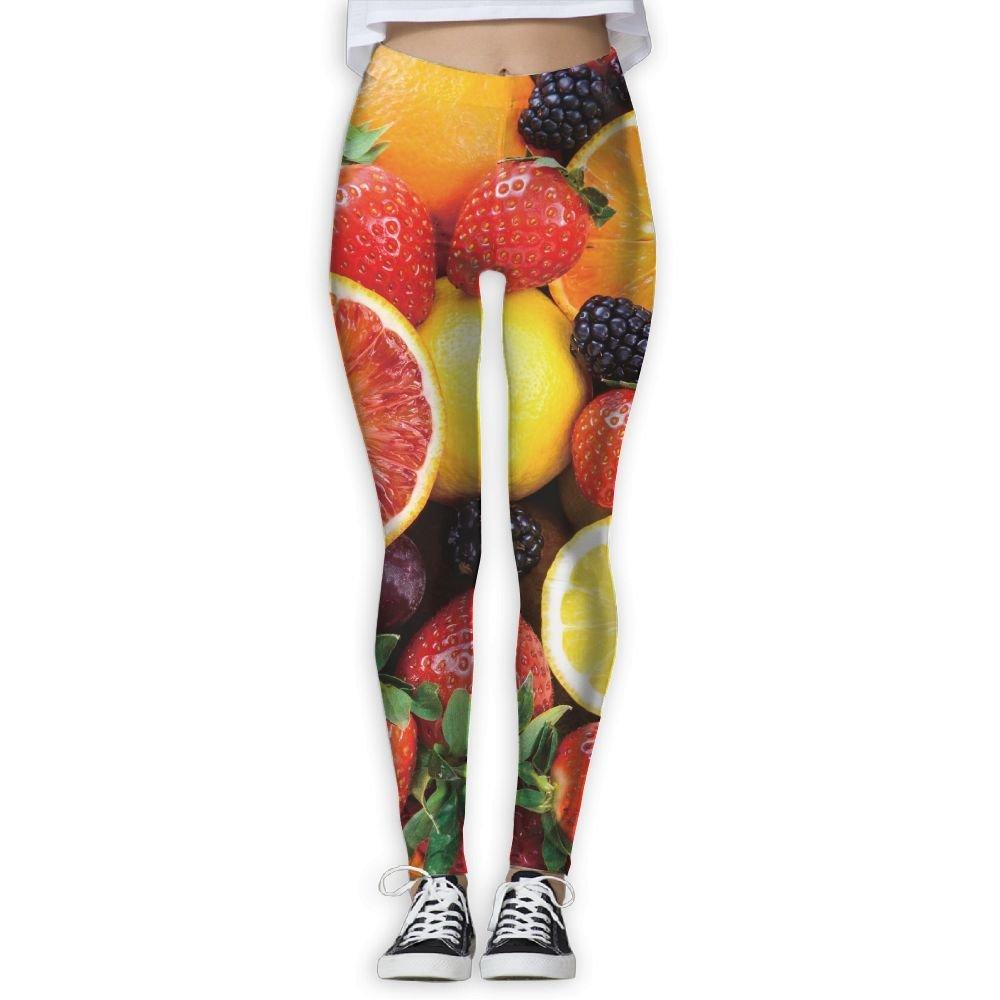 eeb16925e690 Amazon.com  WJM SHOW Women s Apple Orange Strawberry Leggings Yoga Long  Pants Casual Sweatpants Athletic Gym Pants  Clothing