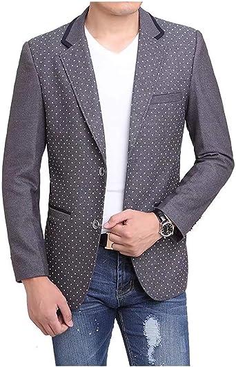 Blazer pour Hommes Blazer Manteau en d'affaires Laine Retro
