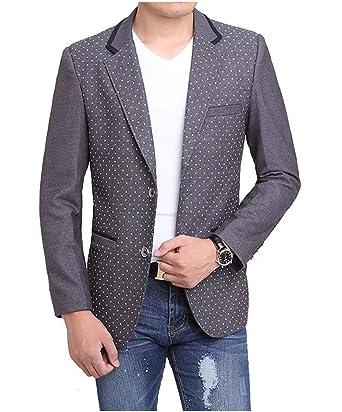 Blazer Blazer Wave Point Wool Suit Chaqueta Traje Classic Hombre ...