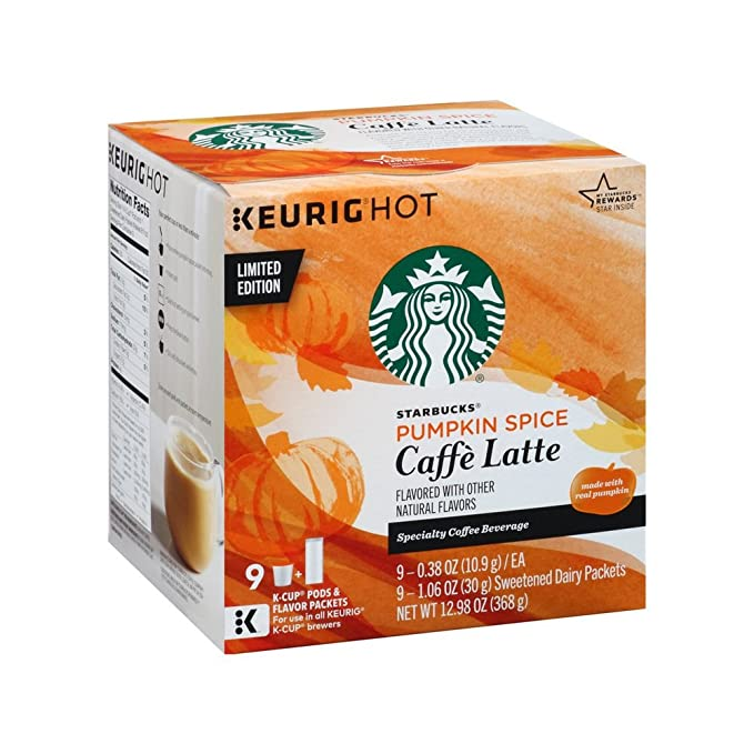 Limited Edition Starbucks Pumpkin Spice Caffe Latte K Cups