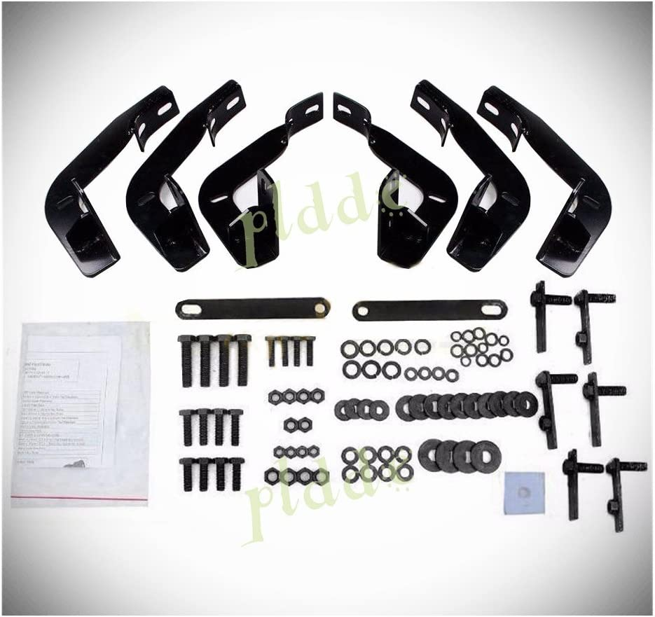 Brackets Installation Instruction Fit 01-18 Chevy Silverado//GMC Sierra 1500//2500//3500 Crew Cab With 4 Full Size Doors PLDDE 2pcs 5 Oval Tube Black Carbon Steel Side Step Nerf Bars Running Boards