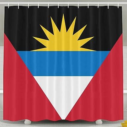 Amazon Shi Fu Flag Of Antigua And Barbuda Crazy Bath Curtain