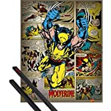 Poster + Hanger: Wolverine Mini Poster (20x16 inches) X-Men, Marvel Comics And 1 Set Of Black 1art1® Poster Hangers