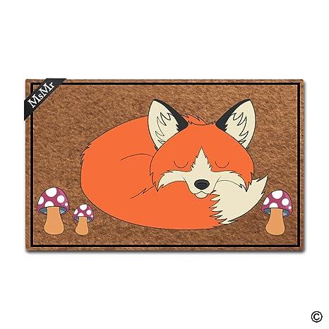 Superior MsMr Doormat Entrance Floor Mat Fox Sleeping Door Mat Home And Office  Decorative Indoor/Outdoor