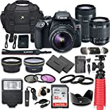 Canon EOS Rebel T6 DSLR Camera Bundle Canon EF-S 18-55mm f/3.5-5.6 is II Lens + Canon EF-S 55-250mm f/4-5.6 is STM Lens + SanDisk 32GB Memory Cards + Accessory Kit