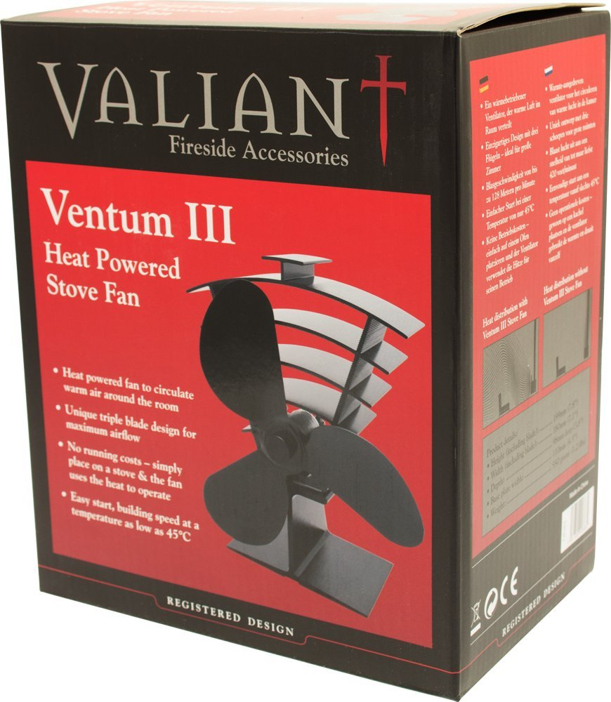 Amazon.com: Valiant Ventum Iii 3-Blade Heat Powe Log Burner & Stove Fan: Home Improvement