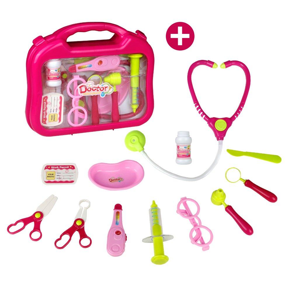 Maletin Medico Kit Juguete de Doctora Juegos de Médicos Enfermera para Niños