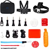EKEN Action Camera Accessories Kit Case for EKEN H9/H9R/H8R/H8 Pro Action Cameras and AKASO EK5000 EK7000 4K WIFI Action Camera Gopro Hero 5/Session 5/Hero 4/3+/3/2/1 Sports DV (Water Sports)