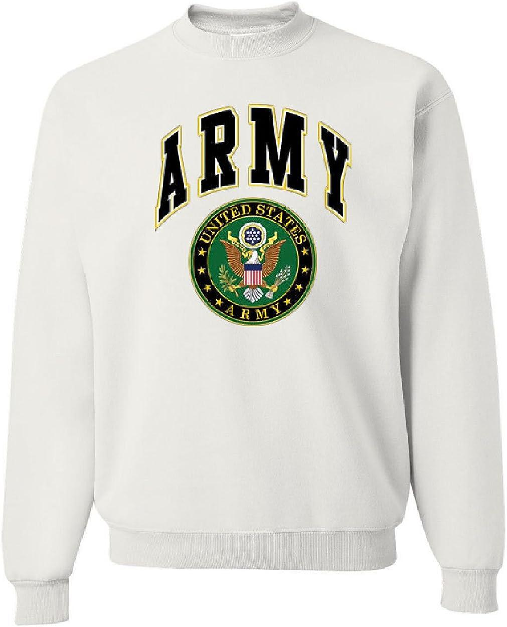 United States Army Crew Neck Sweatshirt Army Crest Patriotic