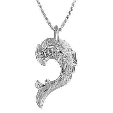 d131b89e3c2a42 [ハワイアン シルバー ジュエリー] Hawaiian Silver Jewelry ハートのかけら × ホエールテイル (ペア