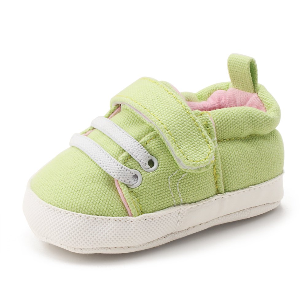 414a1799a4f0f DELEBAO Baby Boys Girls Sneakers Hook Loop Non-Slip Canvas Shoes First  Walkers Infant Trainers