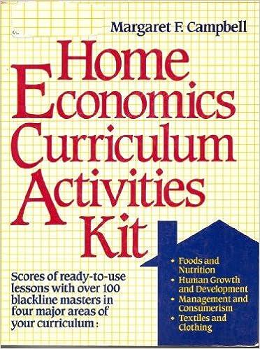 Home Economics Curriculum Activities Kit: Margaret F. Campbell ...