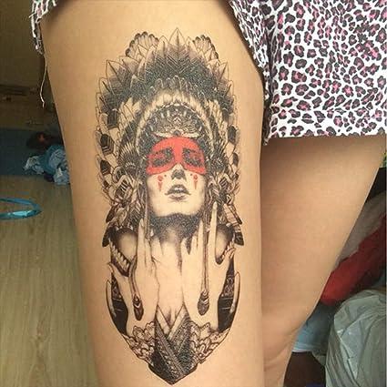 Tatuajes temporales de mujer india apache para hombre y mujer ...