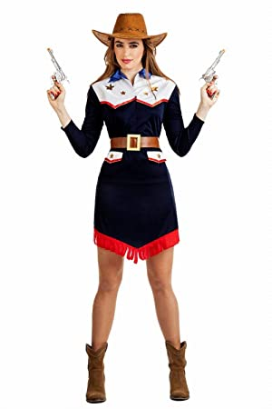 Disfraz de Vaquera Llanero para mujer  Amazon.es  Juguetes y juegos 9023eff9fec