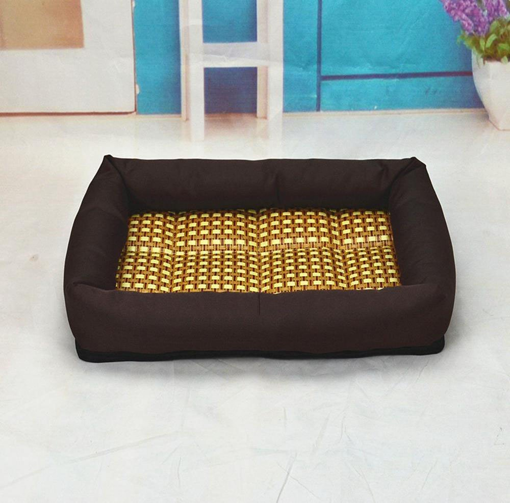 A 60x50x7cm A 60x50x7cm WUTOLUO Pet Bolster Dog Bed Comfort Pet nest (color   A, Size   60x50x7cm)