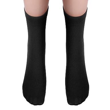 DOGZI Calcetines cortos, Hombres Tubo medio Calcetines Algodón ...