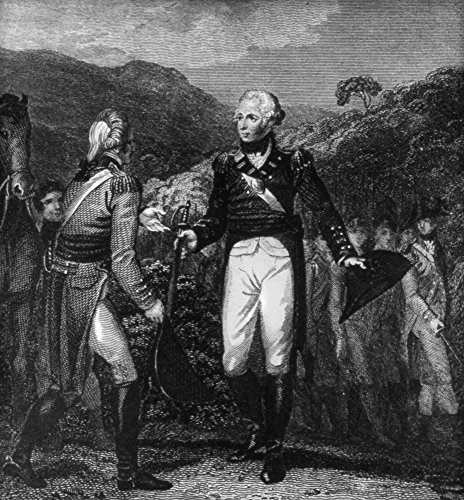Saratoga Surrender 1777 Nthe Surrender Of British General John Burgoyne (Left) To General Horatio Gates Of The Continental Army At Saratoga New York 17 October 1777 Line Engraving English 1807 - Horatio General Gates