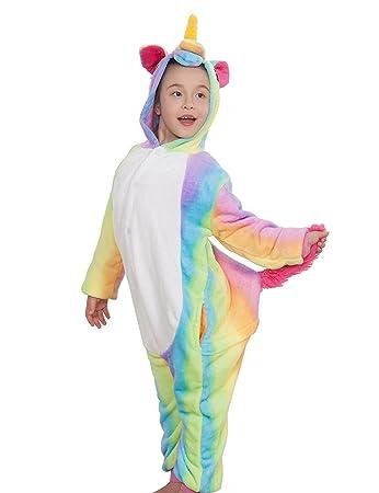einhorn nachtwäsche kinder schlafanzug regenbogen kostüm pyjama cosplay