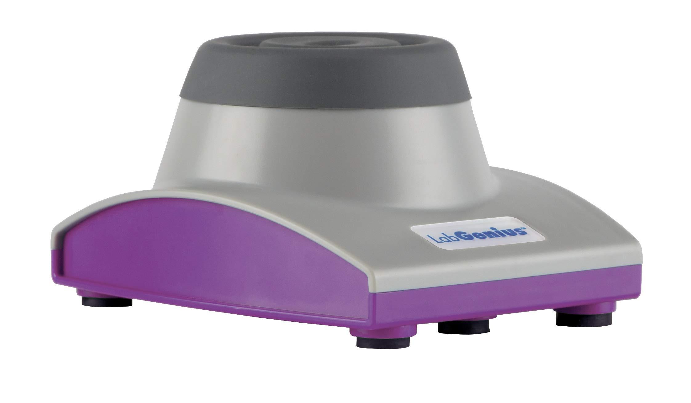 LabGenius HS120155DS Mini Vortex Mixer Advanced, Grey/Purple, ABS Plastic