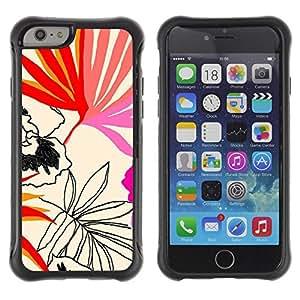 """Hypernova Defender Series TPU protection Cas Case Coque pour Apple Iphone 6 [Hojas Patrón Arte Naturaleza Verano""""]"""